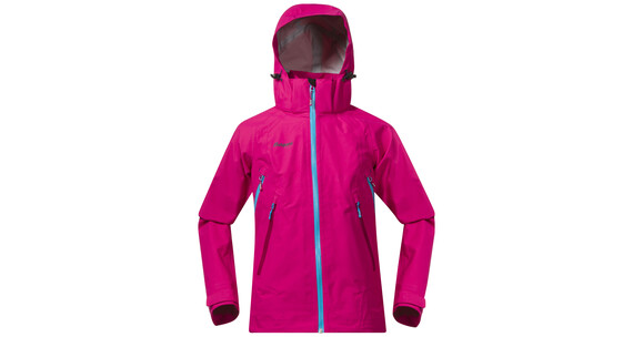 Bergans Youth Girl Ervik Jacket Hot Pink/Br SeaBlue/Cerise